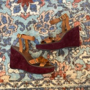 Miu Miu by Prada Maroon Wedges